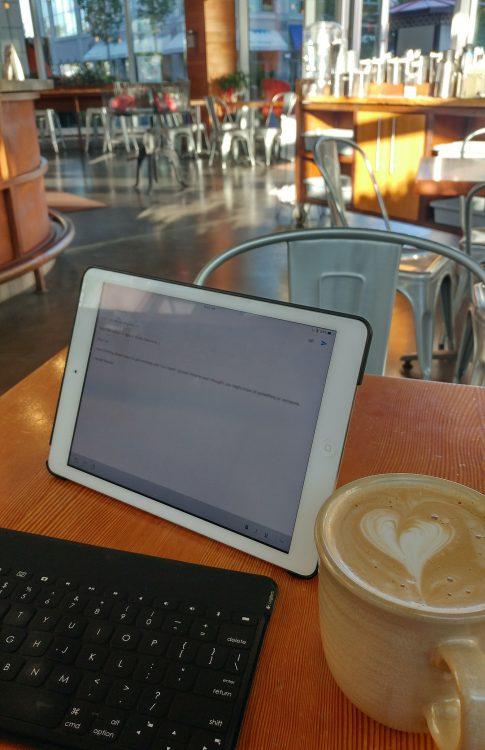 shannon kirk writer coffee shop productivity