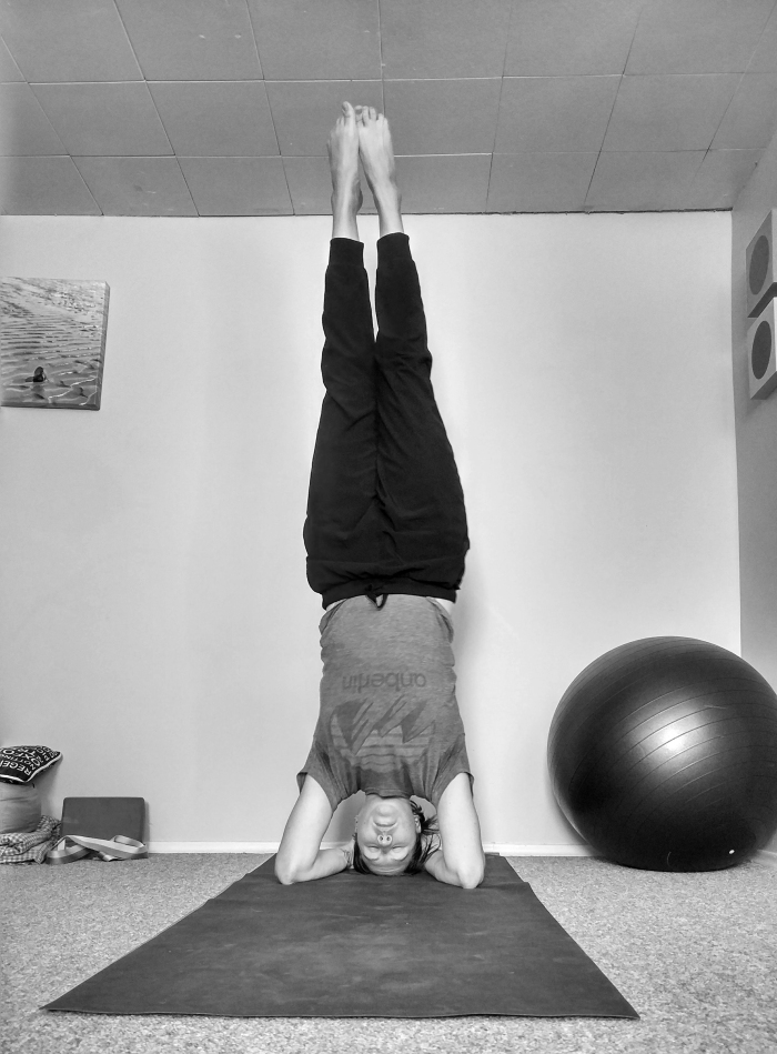 yoga headstand daily shannon kirk writer